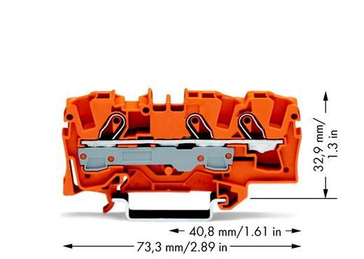 Doorgangsklem 7.50 mm Veerklem Oranje WAGO 2006-1302 25 stuks