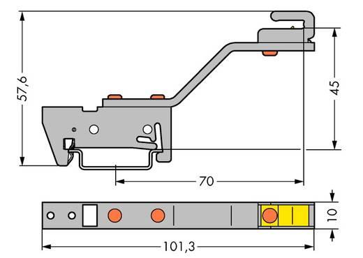 WAGO 790-301 Verzamelrailhouder 10 stuks