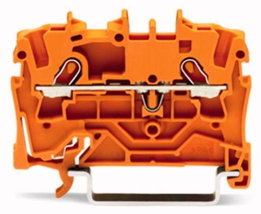 Doorgangsklem 4.20 mm Veerklem Oranje WAGO 2001-1202 100 stuks