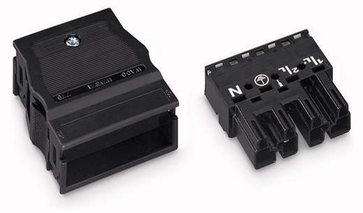 Netstekker Serie (connectoren) WINSTA MIDI Stekker, recht Totaal aantal polen: 4 25 A Zwart WAGO 25 stuks