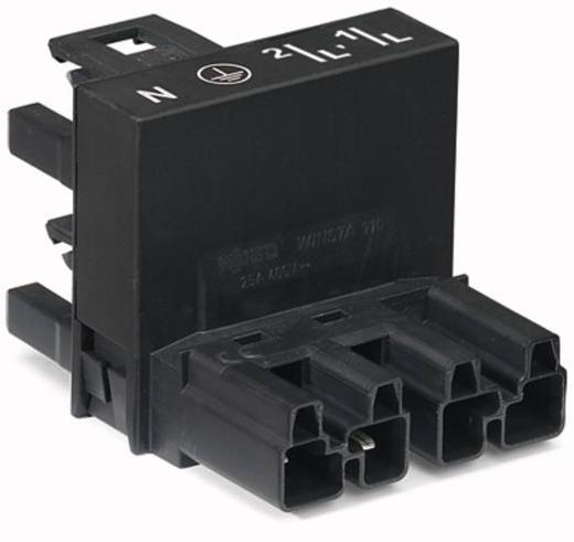 WAGO Net-H-splitter Netstekker - Netbus, Netbus Totaal aantal polen: 4 Zwart 25 stuks