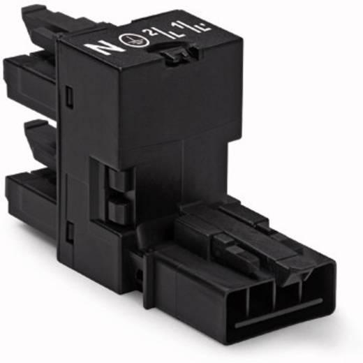 WAGO Net-H-splitter Netstekker - Netbus, Netbus Totaal aantal polen: 4 Zwart 50 stuks
