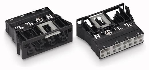 Netstekker Serie (connectoren) WINSTA MIDI Bus, recht Totaal aantal polen: 4 25 A Zwart WAGO 100 stuks