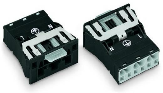 Netstekker Serie (connectoren) WINSTA MIDI Stekker, recht Totaal aantal polen: 2 + PE 25 A Wit WAGO 100 stuks