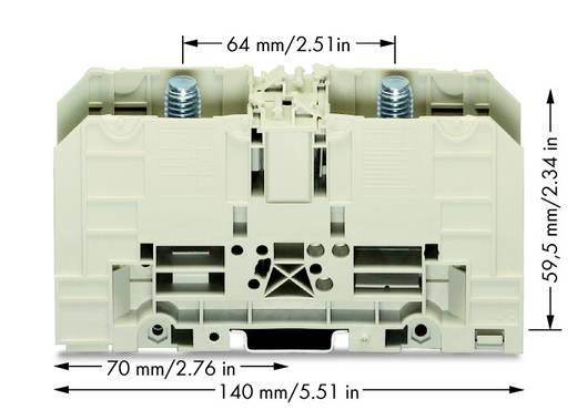 Hoogstroomklemmen 42 mm Boutaansluiting Grijs WAGO 400-490/490-003 5 stuks
