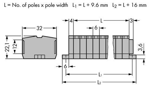 Klemstrook 6 mm Veerklem Toewijzing: L Grijs WAGO 264-108 50 stuks