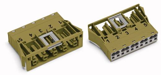 Netstekker Serie (connectoren) WINSTA MIDI Bus, recht Totaal aantal polen: 5 25 A Lichtgroen WAGO 100 stuks