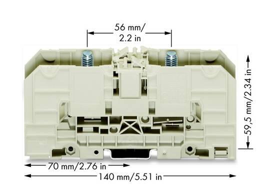 Hoogstroomklemmen 32 mm Boutaansluiting Grijs WAGO 400-490/490-002 10 stuks
