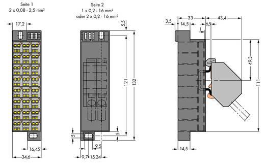 Potentiaalklem Veerklem Toewijzing: L Grijs WAGO 726-601 10 stuks
