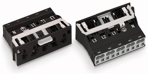 Netstekker Serie (connectoren) WINSTA MIDI Stekker, recht Totaal aantal polen: 4 + PE 25 A Zwart WAGO 100 stuks
