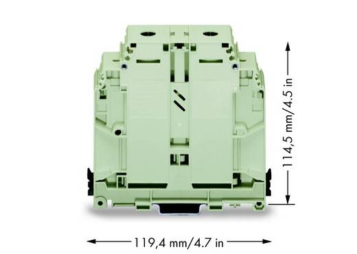 Doorgangsklem 31 mm Schroeven Toewijzing: Terre Groen-geel WAGO 400-499/499-715 10 stuks