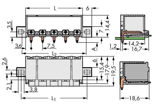 Penbehuizing-board 2092 Totaal aantal polen 5 WAGO 2092-3425/205-000 Rastermaat: 7.50 mm 100 stuks