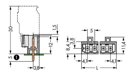 Male header (standaard) Totaal aantal polen 3 WAGO 721-133/