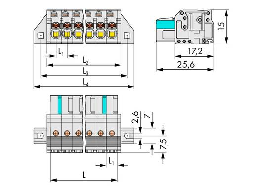 WAGO 2721-105/031-000 Busbehuizing-kabel 2721 Totaal aantal polen 5 Rastermaat: 5 mm 50 stuks