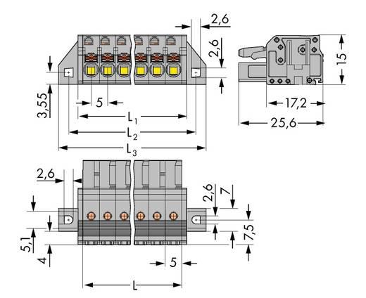 WAGO 2231-115/031-000 Busbehuizing-kabel 2231 Totaal aantal polen 15 Rastermaat: 5 mm 25 stuks