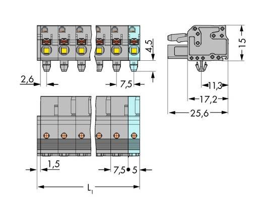 Busbehuizing-kabel 2231 Totaal aantal polen 3 WAGO 2231-203/008-000 Rastermaat: 7.50 mm 100 stuks