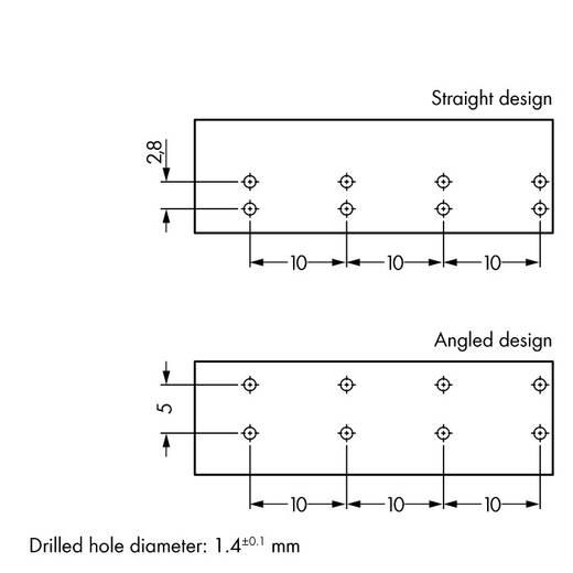 Netstekker Serie (connectoren) WINSTA MIDI Bus, inbouw horizontaal Totaal aantal polen: 4 25 A Roze WAGO 50 stuks