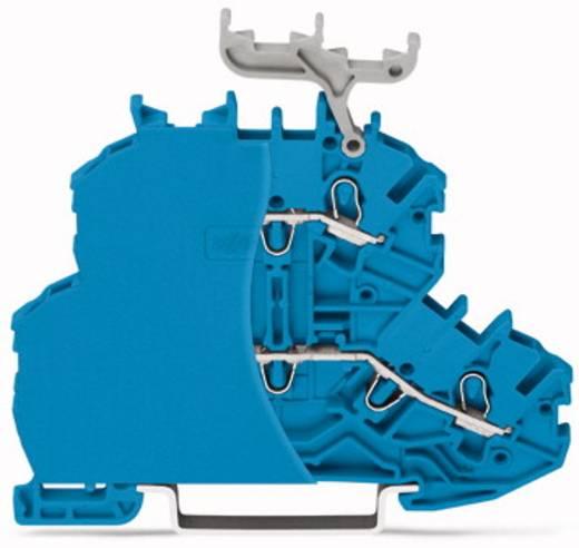 Doorgangsklem 2-etages 4.20 mm Veerklem Toewijzing: N, N Blauw WAGO 2000-2204/099-000 50 stuks