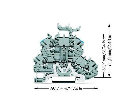 Doorgangsklem 2-etages 3.50 mm Veerklem Toewijzing: L Grijs WAGO 2000-2248 50 stuks