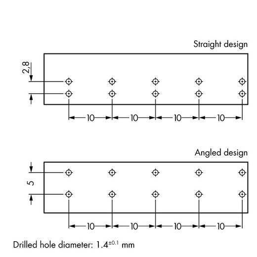 Netstekker Serie (connectoren) WINSTA MIDI Bus, inbouw verticaal Totaal aantal polen: 5 25 A Wit WAGO 50 stuks