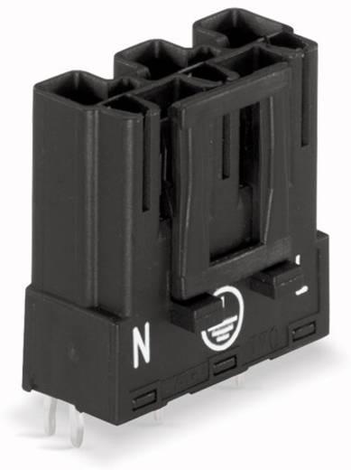 WAGO 770-813 Netstekker Stekker, inbouw horizontaal Totaal aantal polen: 3 25 A Zwart 100 stuks