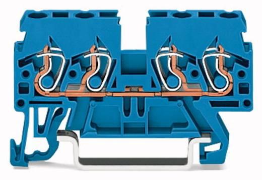 Doorgangsklem 5 mm Veerklem Toewijzing: N Blauw WAGO 870-834 100 stuks