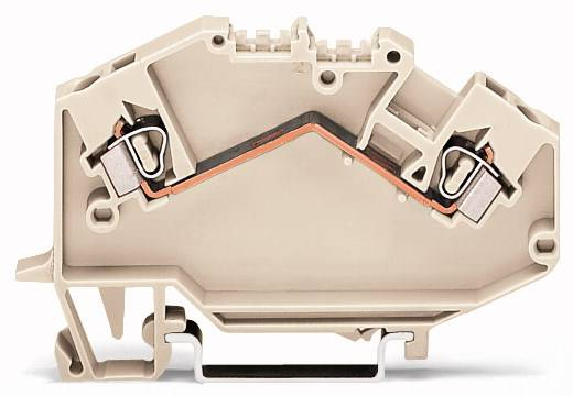 Doorgangsklem 5 mm Veerklem Toewijzing: L Grijs WAGO 780-992 50 stuks