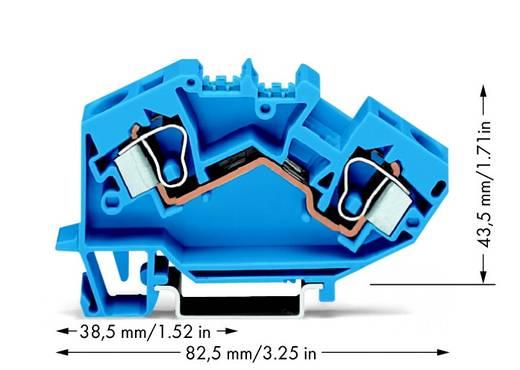 Doorgangsklem 10 mm Veerklem Toewijzing: N Blauw WAGO 784-604 25 stuks