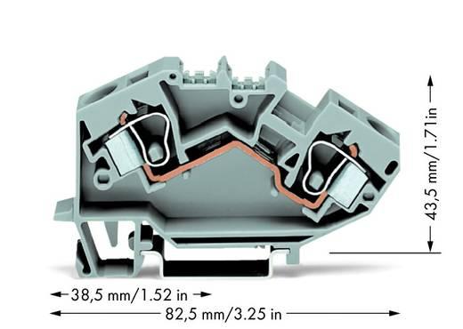 Doorgangsklem 10 mm Veerklem Toewijzing: L Grijs WAGO 784-601 25 stuks