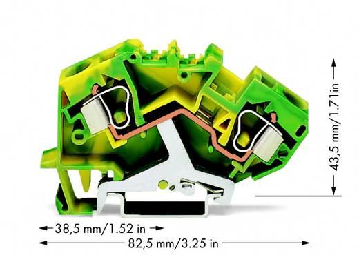 Aardingsklem 10 mm Veerklem Toewijzing: Terre Groen-geel WAGO 784-607 25 stuks