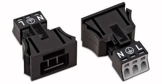 Netstekker Serie (connectoren) WINSTA MINI Stekker, recht Totaal aantal polen: 3 16 A Wit WAGO 50 stuks
