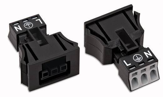 Netstekker Serie (connectoren) WINSTA MINI Bus, recht Totaal aantal polen: 3 16 A Zwart WAGO 50 stuks
