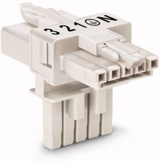 WAGO 890-671 Net-T-splitter Netstekker - Netbus, Netbus Totaal aantal polen: 5 Wit 25 stuks