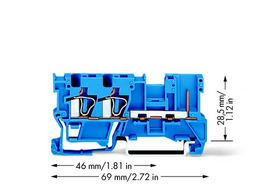 Basisklem 5 mm Veerklem Toewijzing: N Blauw WAGO 769-251/000-006 50 stuks