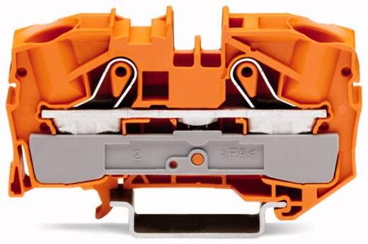 Doorgangsklem 12 mm Veerklem Oranje WAGO 2016-1202 20 stuks