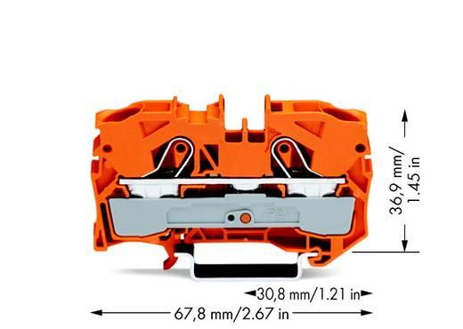 Doorgangsklem 10 mm Veerklem Oranje WAGO 2010-1202 25 stuks