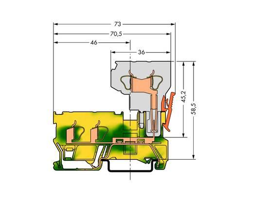 Basisklem 5 mm Veerklem Toewijzing: Terre Groen-geel WAGO 769-257 50 stuks