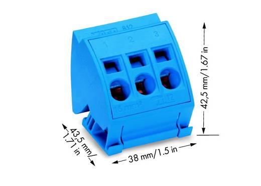 WAGO 812-114 Aansluitblok 16 mm² 12 stuks