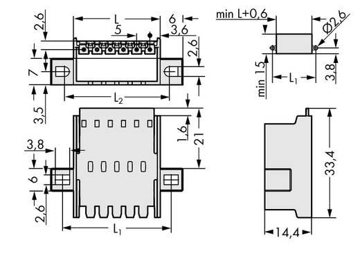 WAGO 2092-1636/024-000 Male doorvoerconnector met bevestigingsflenzen 50 stuks