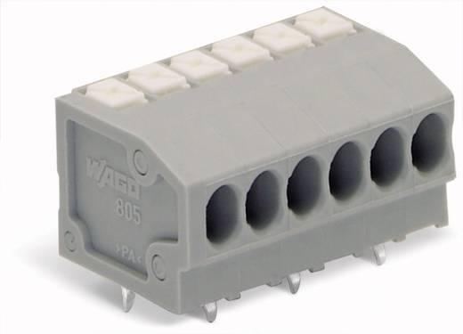 Veerkachtklemblok 1.50 mm² Aantal polen 3 WAGO Grijs 420 stuks