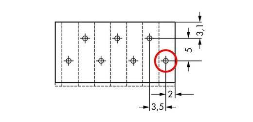 Veerkachtklemblok 1.50 mm² Aantal polen 11 805-311 WAGO Grijs 100 stuks