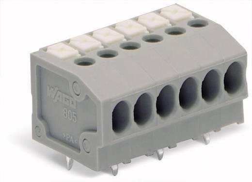 Veerkachtklemblok 1.50 mm² Aantal polen 6 WAGO Grijs 220 stuks