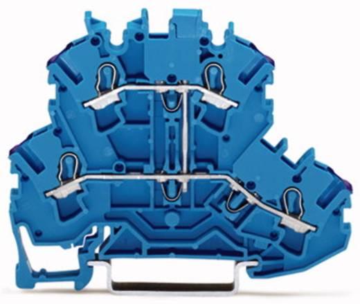 Doorgangsklem 2-etages 5.20 mm Veerklem Toewijzing: N Blauw WAGO 2002-2209 50 stuks