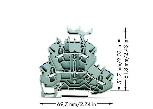 Doorgangsklem 2-etages 5.20 mm Veerklem Toewijzing: N, L Grijs WAGO 2002-2232 50 stuks
