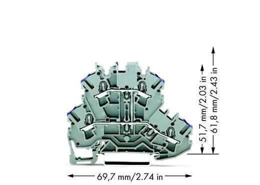 Doorgangsklem 2-etages 5.20 mm Veerklem Toewijzing: L Grijs WAGO 2002-2208 50 stuks