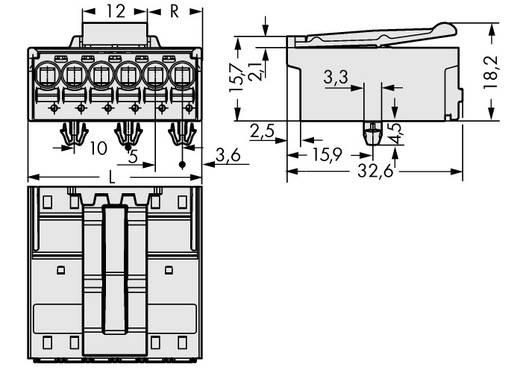 Penbehuizing-board 2092 Totaal aantal polen 6 WAGO 2092-1526/020-000 Rastermaat: 5 mm 50 stuks