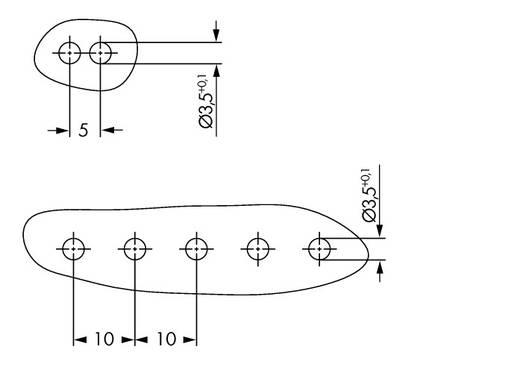 WAGO 2092-1526/020-000 Penbehuizing-board 2092 Totaal aantal polen 6 Rastermaat: 5 mm 50 stuks
