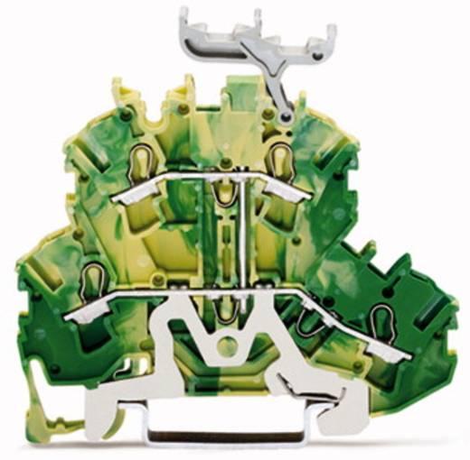 Aardklem 2-etages 5.20 mm Veerklem Toewijzing: Terre Groen-geel WAGO 2002-2237 50 stuks