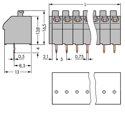 Veerkachtklemblok 1.00 mm² Aantal polen 10 250-510 / 000-012 WAGO Oranje 80 stuks