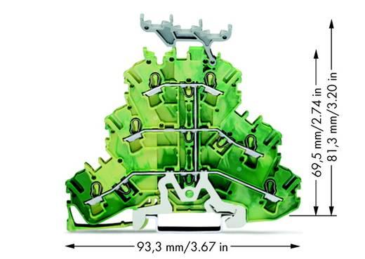 Aardklem 3-etages 5.20 mm Veerklem Toewijzing: Terre Groen-geel WAGO 2002-3237 50 stuks
